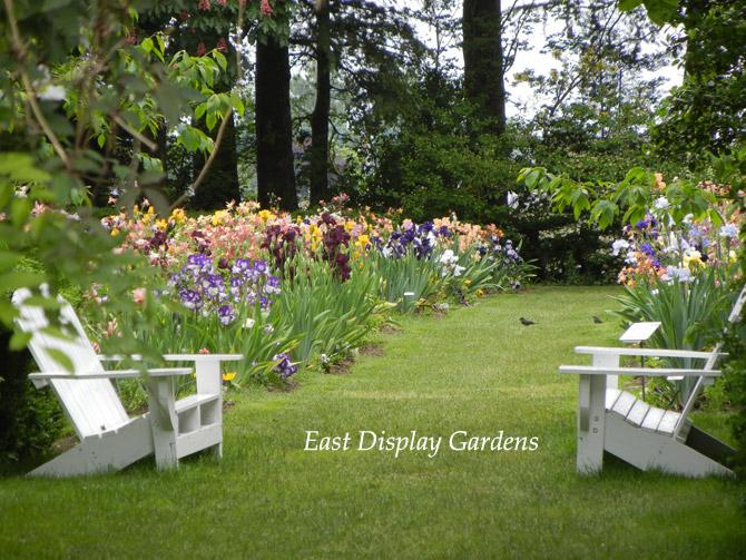 East Garden Benches