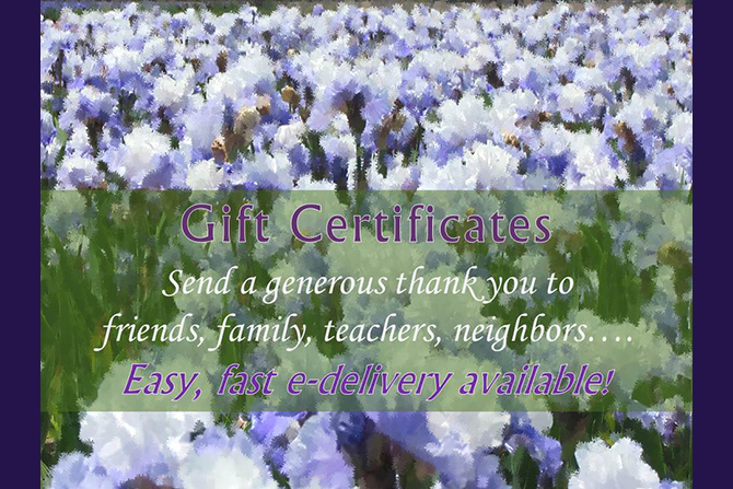 Gift Certificates 2015