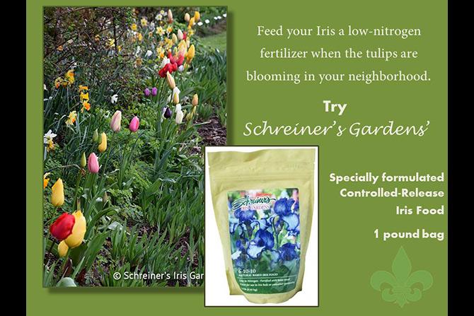 Low-Nitrogen Iris Fertilizer