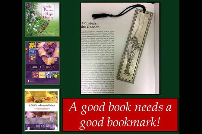 Iris Bookmark and Books