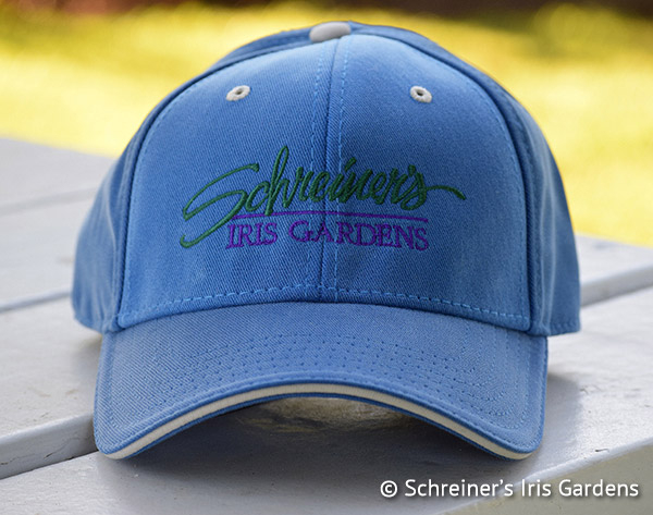 Blue Cotton Cap with Embroidered Logo | Iris Apparel