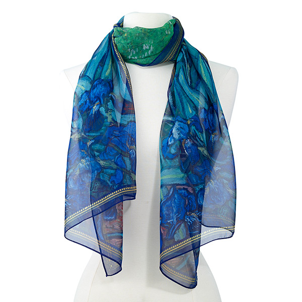 Iris Themed Gifts | Iris Print Scarf
