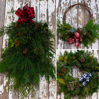Fresh Evergreen Wreaths image