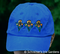 Image Blue Cotton Cap with Embroidered Iris