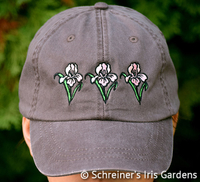 Image Cocoa Cotton Cap with Embroidered Iris