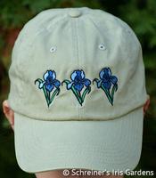 Image Khaki Cotton Cap with Embroidered Iris