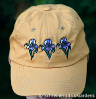 Image Mustard Cotton Cap with Embroidered Iris