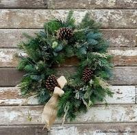 Image Winter Woodland Wreath 22 inch