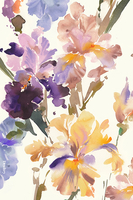 Image Watercolor Irises Scarf by Helen Dealtry