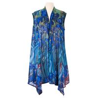 Image Van Gogh Irises Sheer Vest Size SMALL