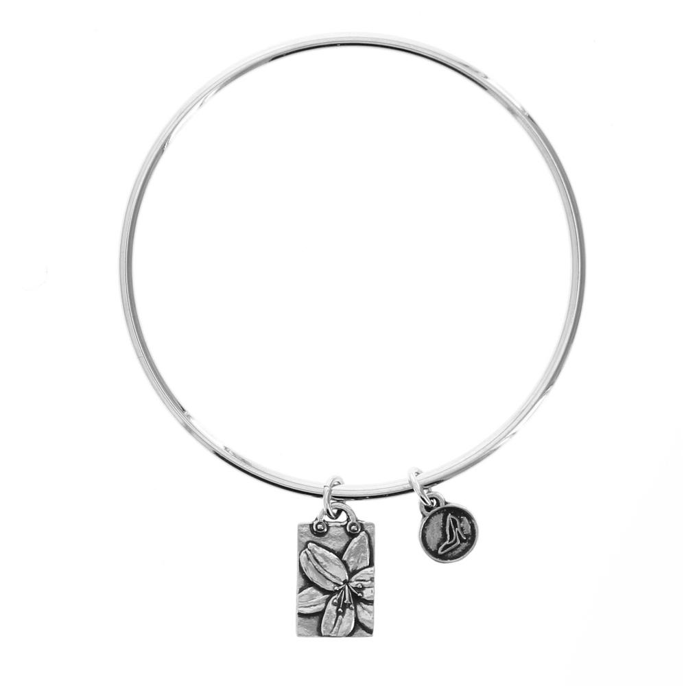 Daylily Purity of Heart Bangle Bracelet