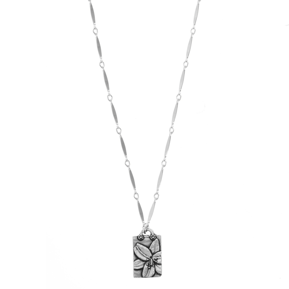 Daylily Purity of Heart Necklace