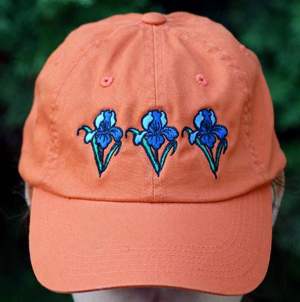 Orange Embroidered Cap